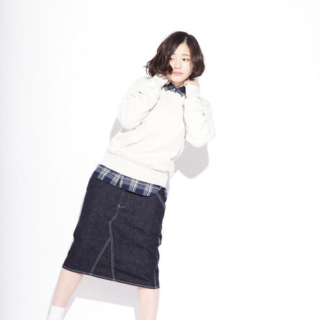 【women】Ordinary fits〈オーディナリーフィッツ〉 HOLYDAY SKIRT denim USED