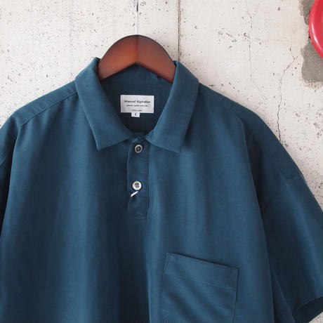 Manual Alphabet〈マニュアルアルファベット〉SMOOTH POLO SHIRTS E.BLUE