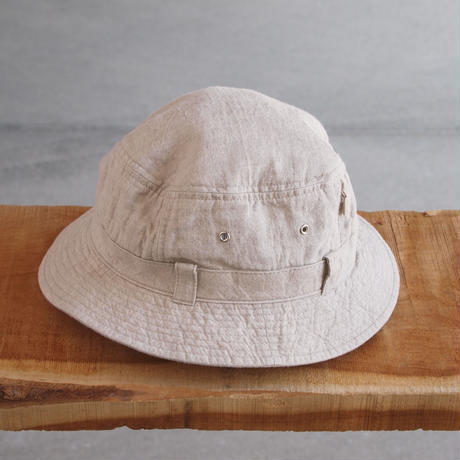 morno〈モーノ〉 LINEN SAFARI HAT NATURAL