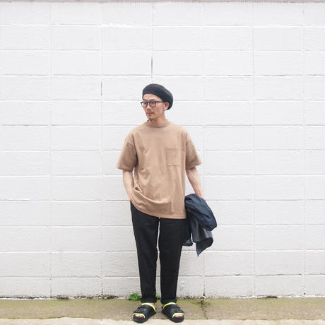 Goodwear〈グッドウェア〉 U.S.A. COTTON CRW NECK LOOSE TEE  TAN/KHAKI