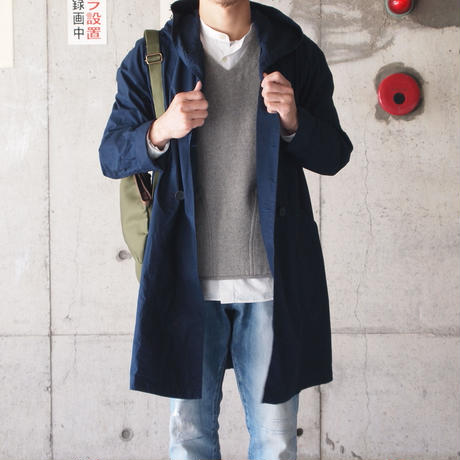 Manual Alphabet〈マニュアルアルファベット〉 TYPEWRITER WANDERER COAT NAVY