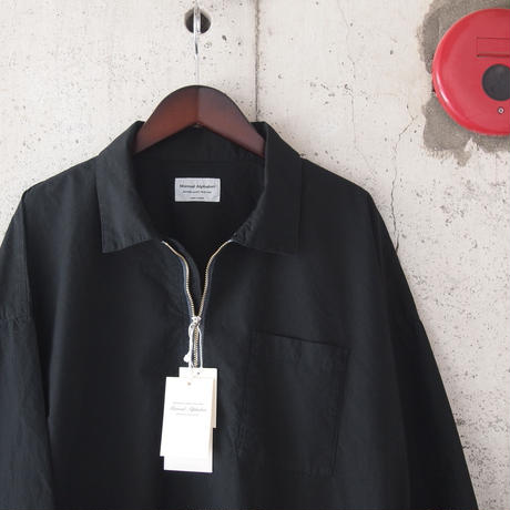 Manual Alphabet〈マニュアルアルファベット〉 PRODUCT DYE LONG SLEEVE POLO BLACK
