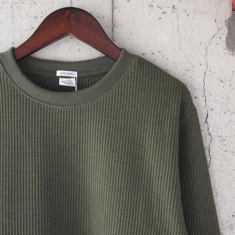 UNION MADE〈ユニオンメイド〉 THERMAL CREW NECK OLIVE