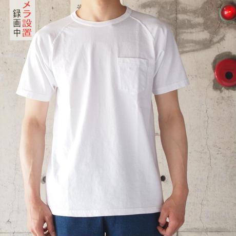 FOB FACTORY〈エフオービーファクトリー〉 FREEDOM SLEEVE TUBE POCKET T-shirt (F7095) WHITE