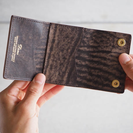 Dono〈ドーノ〉 ENVELOPE MINI WALLET TAUPE/NUME/CHOCO/BLACK