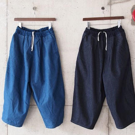 【women】Ordinary fits〈オーディナリーフィッツ〉 BALL PANTS denim (OL-P015D)  BLUE/NAVY