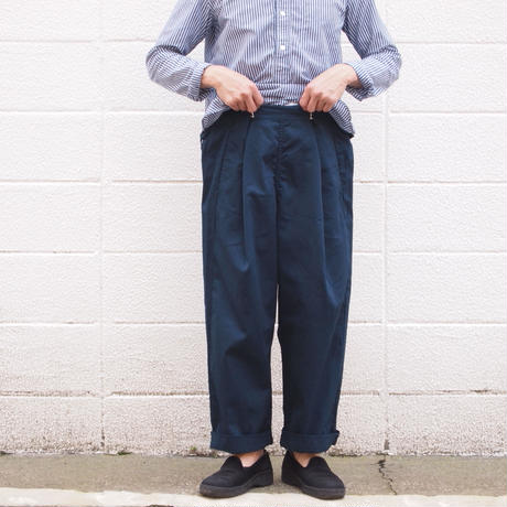 【unisex】Ordinary fits〈オーディナリーフィッツ〉 BOTTLES PANTS NAVY