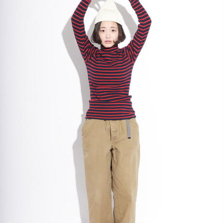 【unisex】Ordinary fits〈オーディナリーフィッツ〉 サーマルタートルネック RED×NAVY