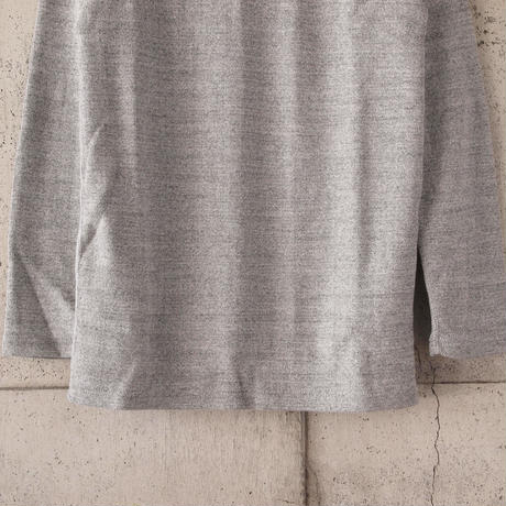 Manual Alphabet〈マニュアルアルファベット〉 HALF FRAISE TURTLE NECK TEE GREY