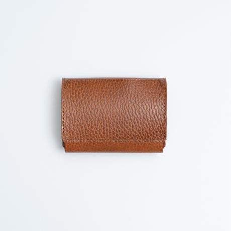 Daily wallet(型押しブラウン)