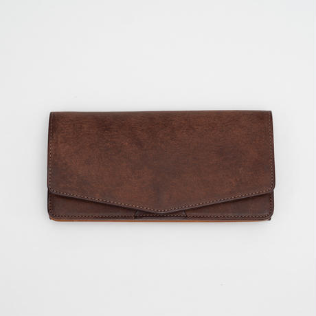 combination long wallet(ダークブラウン×ナチュラル)
