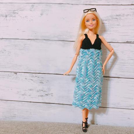 Barbieニットキャミロングワンピ