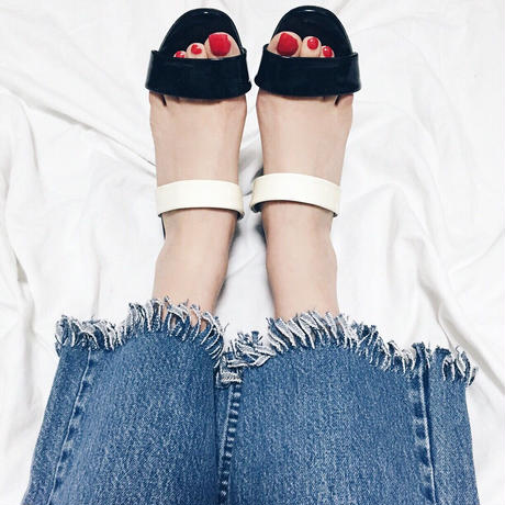 Levis fringe denim
