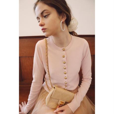 é button spring cardigan baby pink