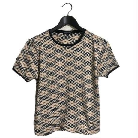 Burberry check piping tee
