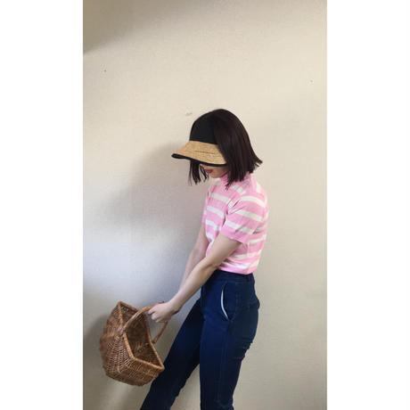courréges border knit pink