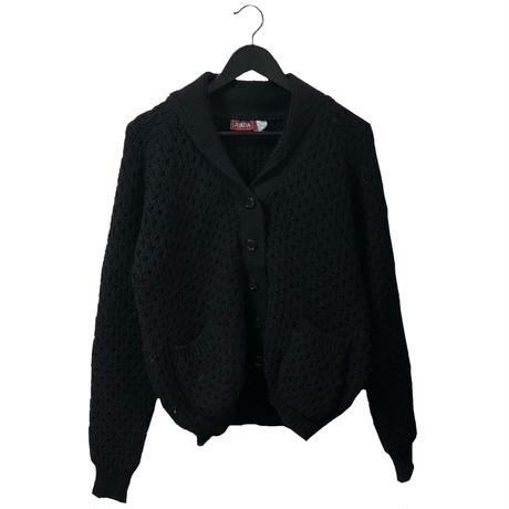 cable knit cardigan black