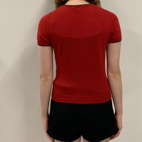 Miss chloé v neck logo tops(No.3036)