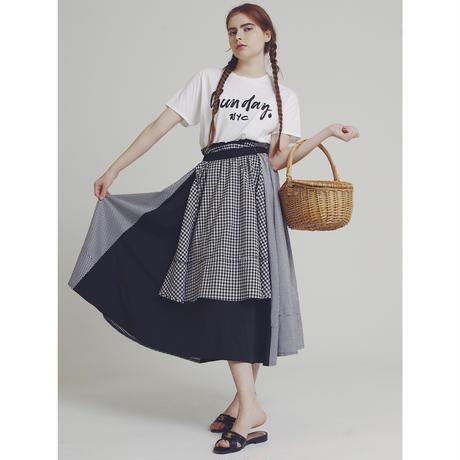 check×check design volume skirt