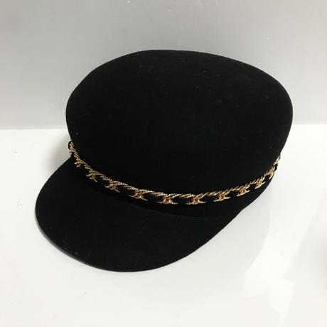 2way chain wool cap