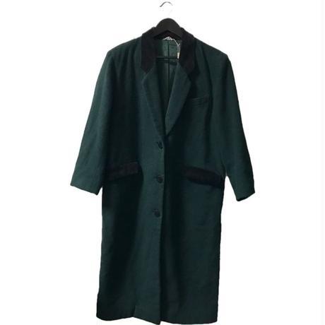 【スペシャルプライス】wool velours long coat moss green