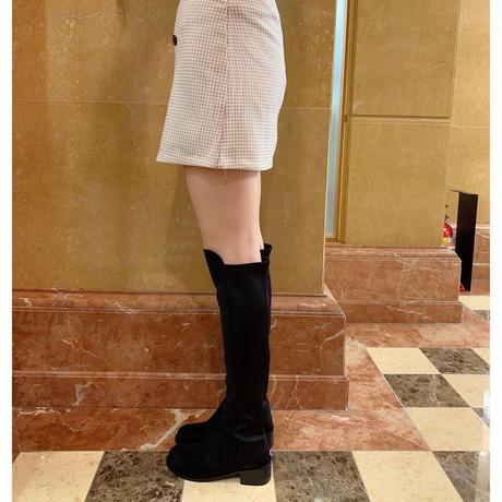suède knee-high boots