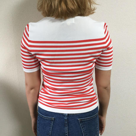 courreges  red border tops