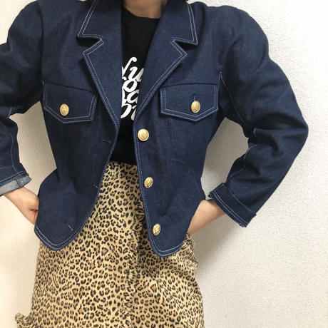 back lace up denim jacket