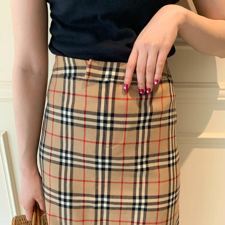 Burberry check design skirt(No.3459)