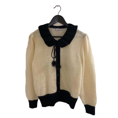 YSL collar design mohair knit tops (No.3616)