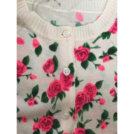 pink rose knit cardigan