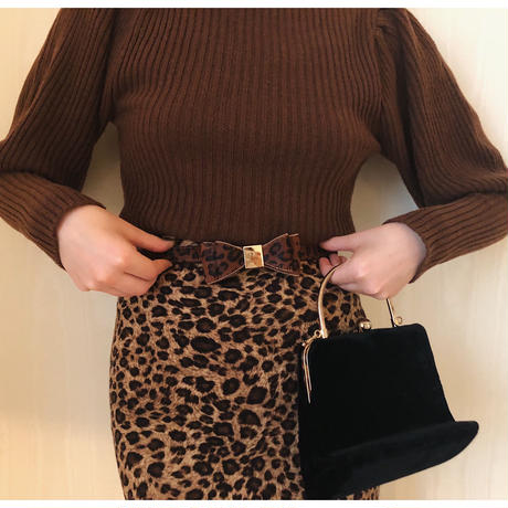 leopard ribbon belt