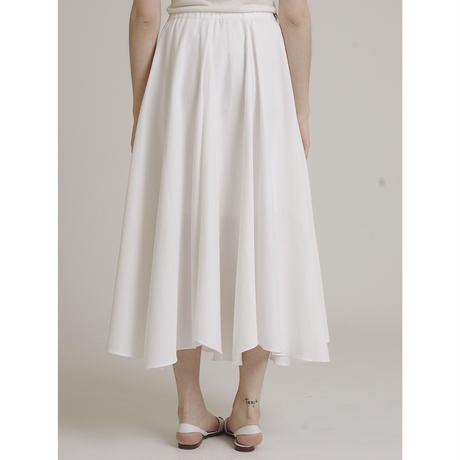 volume design flare skirt white
