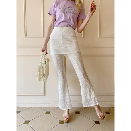 lace  skirt pants