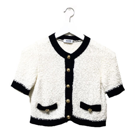 MOSCHINO piping knit cardigan