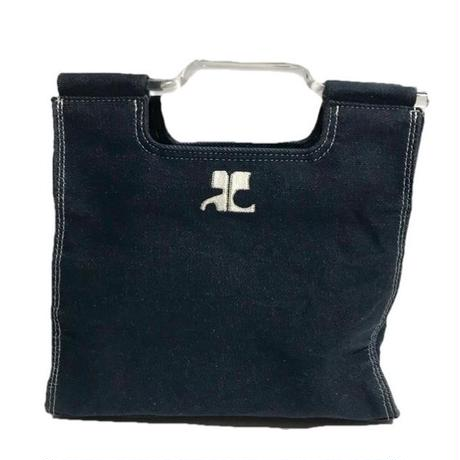 courreges denim hand bag