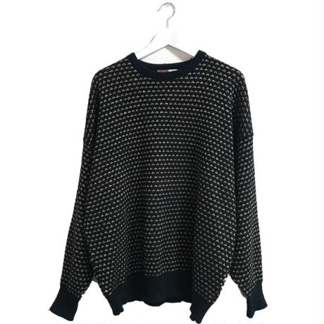 black and gold 2way knit