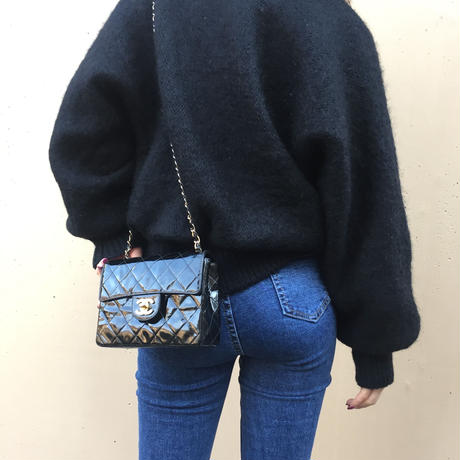 knit fur coat
