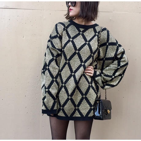 gold quilting pattern knit