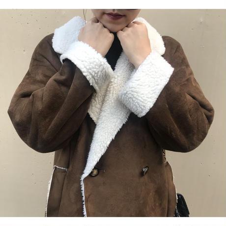 boa mouton coat brown