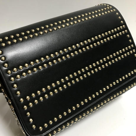 gold studs 2way shoulder bag