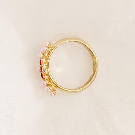3 flower ring pink