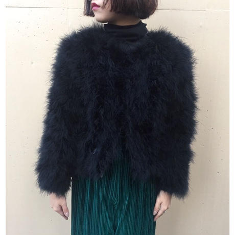 real feather fur coat