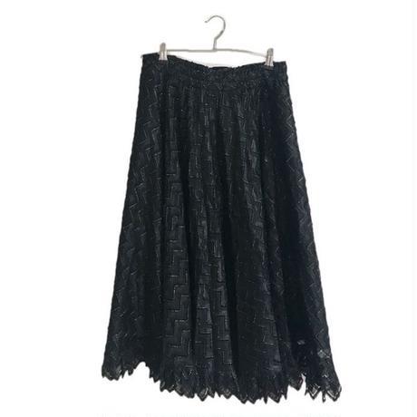 gold line design skirt