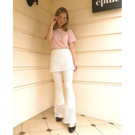 epine embroidery tee baby pink