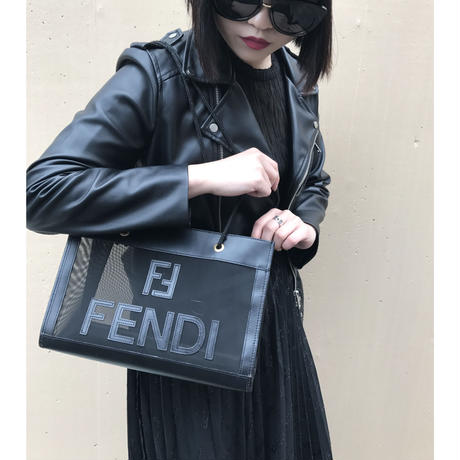 FENDI logo see-through bag