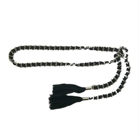 silver tassel chain belt