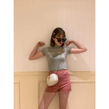 Chloé logo design summer knit tops light gray(No.3324)