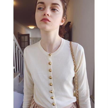 é button spring cardigan ivory