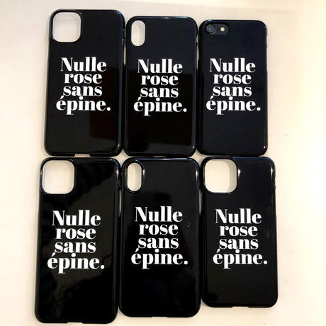 Nulle rose sans épine iPhone case black